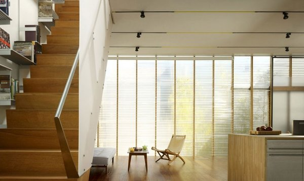 #mission #missiondistrict #sanfrancisco #glass #windows #stairs #livingroom Photo 3 of Mission House modern home