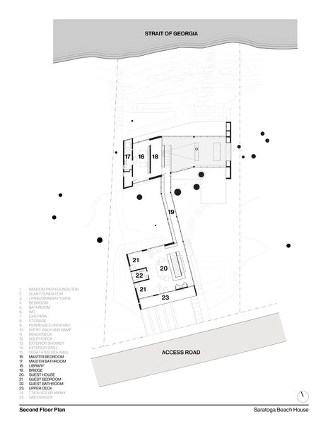 Second Floor Plan   #residentialarchitecture #residence #interstice #floorplan #intersticearchitects  Photo 14 of TreeHugger modern home