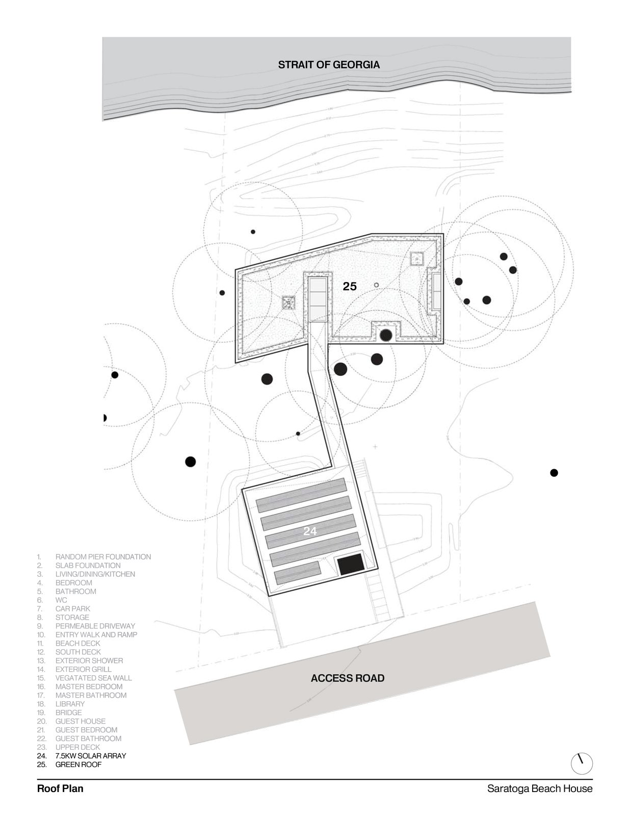 Roof Plan   #intersticearchitects #interstice #floorplan #plan #residentialarchitecture #residential