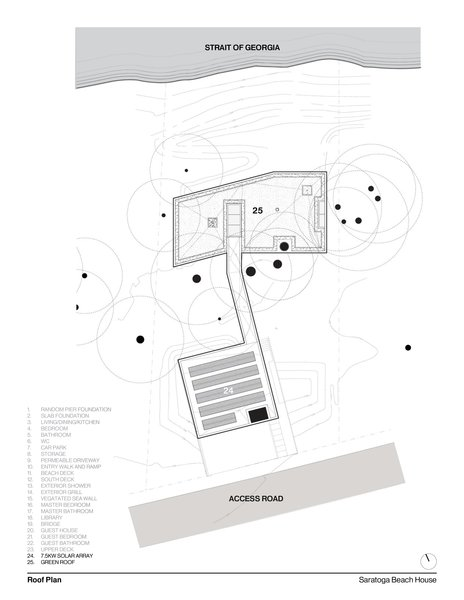 Roof Plan   #intersticearchitects #interstice #floorplan #plan #residentialarchitecture #residential  Photo 13 of TreeHugger modern home