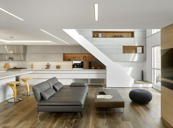 Modern home with living room. Photo  of SOMA:loft