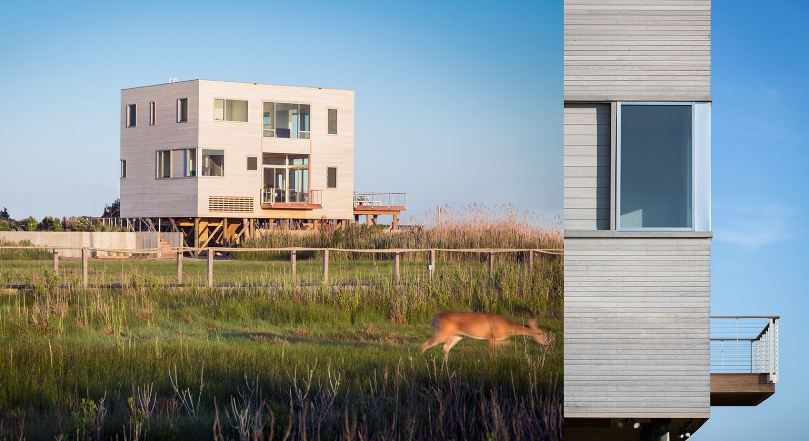 #CubeHouse #modern #cube #exterior #outside #landscape #windows #deck #timber #wetlands #cedar #retreat #privacy #dynamic #naturallighting #Westhamptonbeach #NewYork #LeroyStreetStudio   Cube House by Leroy Street Studio