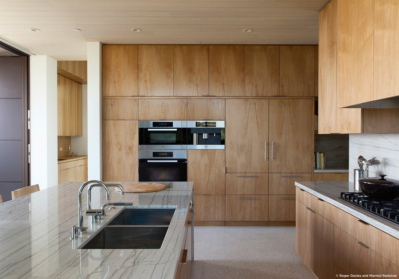#SummitridgeResidence #modern #midcentury #levels #interior #inside #kitchen #appliances #cabinets #sink #stove #wood #lighting #BeverlyHills #MarmolRadziner  Summitridge Residence by Marmol Radziner