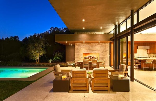 Modern home with outdoor. Photo 2 of Trousdale Residence