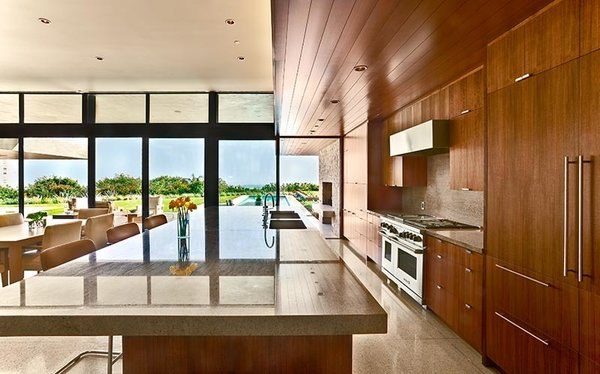 Modern home with kitchen. Photo 5 of Trousdale Residence
