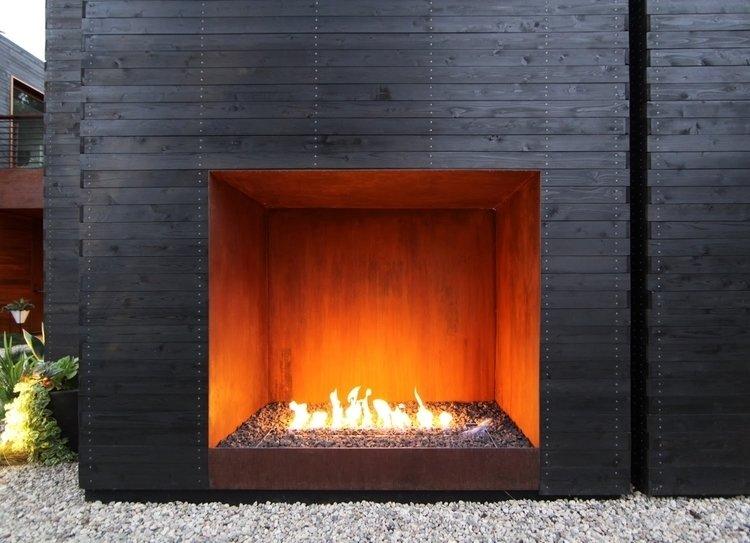 #Sebastian Mariscal #landscape #exterior #fireplace   Venice House by Sebastian Mariscal Studio