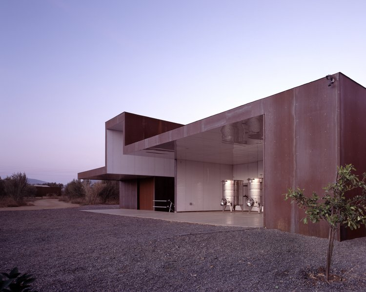 #SebastianMariscal #exterior #landscape #steel #vintner   Vinicola Esere by Sebastian Mariscal Studio