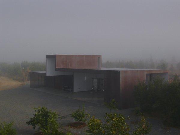 #SebastianMariscal #exterior #landscape #steel #fog  Photo 6 of Vinicola Esere modern home