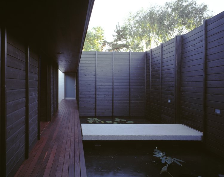 #SebastianMariscal #Carlsbad #California #exterior #landscape #pond Wabi House by Sebastian Mariscal Studio