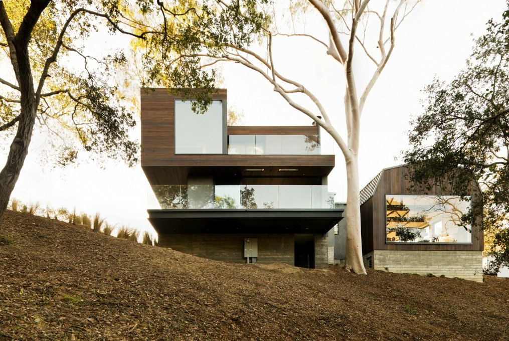 #WalkerWorkshop #exterior #outdoor #outside #landscape   Oak Pass Guest House by Walker Workshop