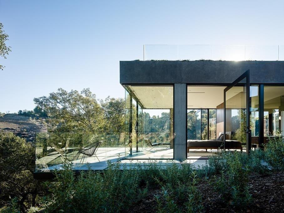 #WalkerWorkshop #exterior #outdoor #outside #landscape #interior #bedroom #lounge   Oak Pass Main House by Walker Workshop