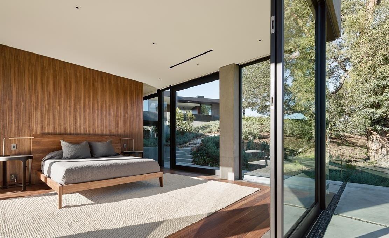 #WalkerWorkshop #interior #inside #indoor #bedroom #window   Oak Pass Main House by Walker Workshop