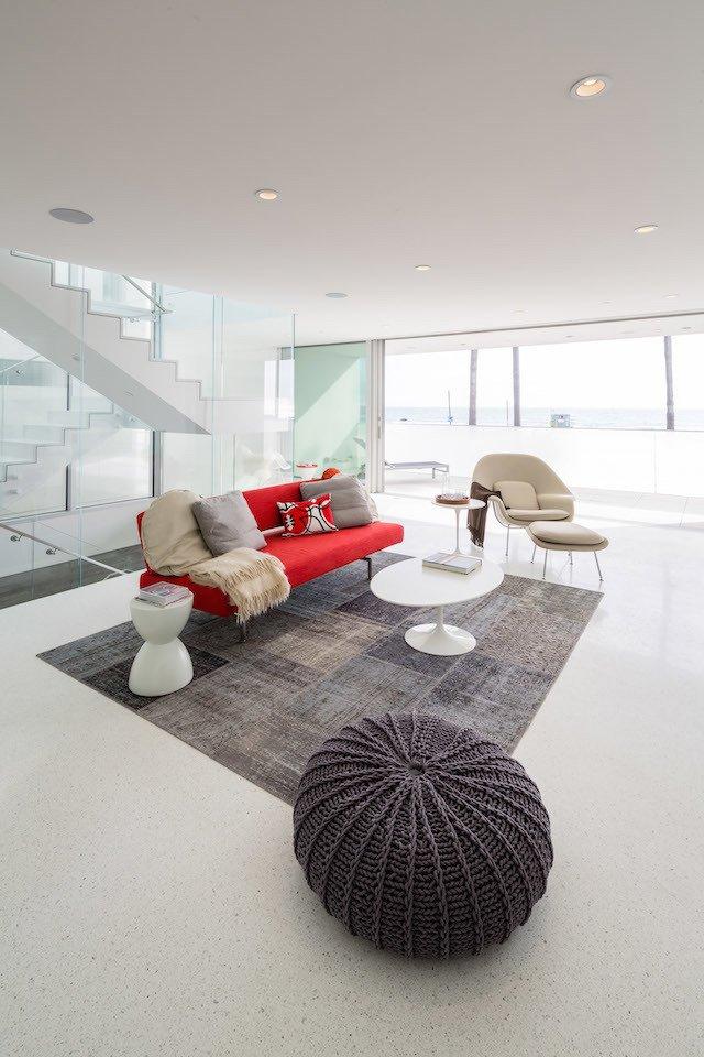 #danbrunn #zigzag #residence #beachfront #venice #california #glass #windows #livingroom #interior  Zig Zag Residence by DBArchitecture