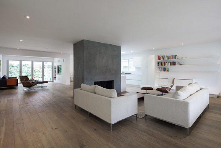 #danbrunn #hayvenhurst #residence #remodel #losangeles #california #glass #windows #fireplace #livingroom #woodfloors #interior  Hayvenhurst Remodel by DBArchitecture