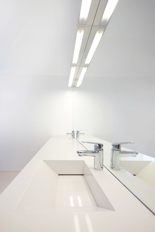 #danbrunn #hayvenhurst #residence #remodel #losangeles #california #bathroom #countertop #mirror #interior  Hayvenhurst Remodel by DBArchitecture