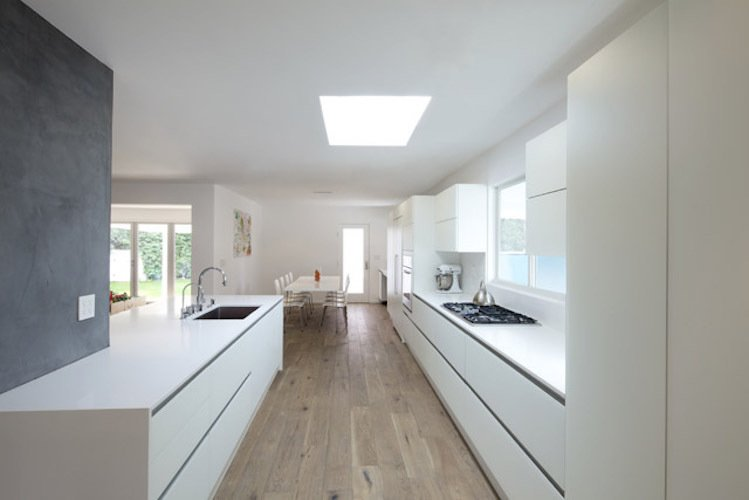 #danbrunn #hayvenhurst #residence #remodel #losangeles #california #glass #windows #kitchen #diningroom #woodfloors #interior