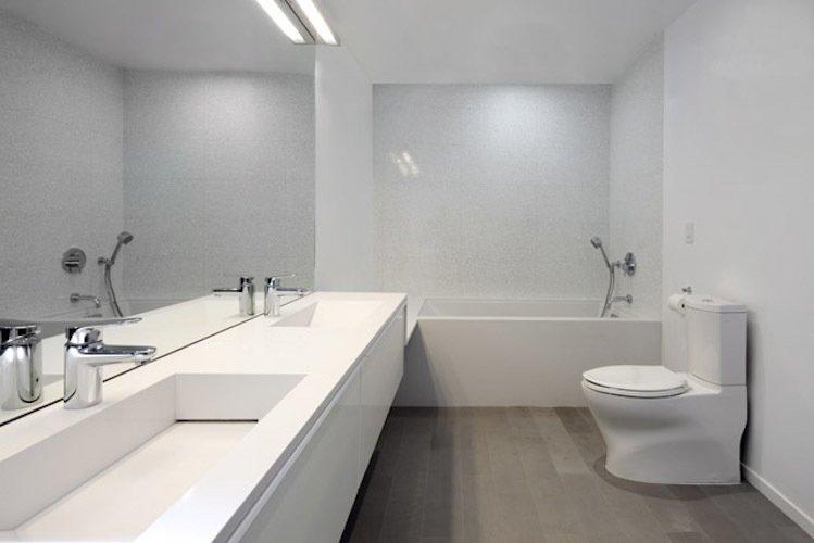 #danbrunn #hayvenhurst #residence #remodel #losangeles #california #bathroom #bathtub #toilet #countertop #mirrior #woodfloors #interior  Hayvenhurst Remodel by DBArchitecture
