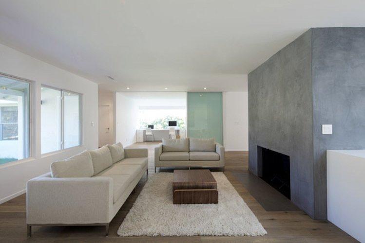 #danbrunn #hayvenhurst #residence #remodel #losangeles #california #glass #windows #fireplace #livingroom #office #glassdoor #interior  Hayvenhurst Remodel by DBArchitecture