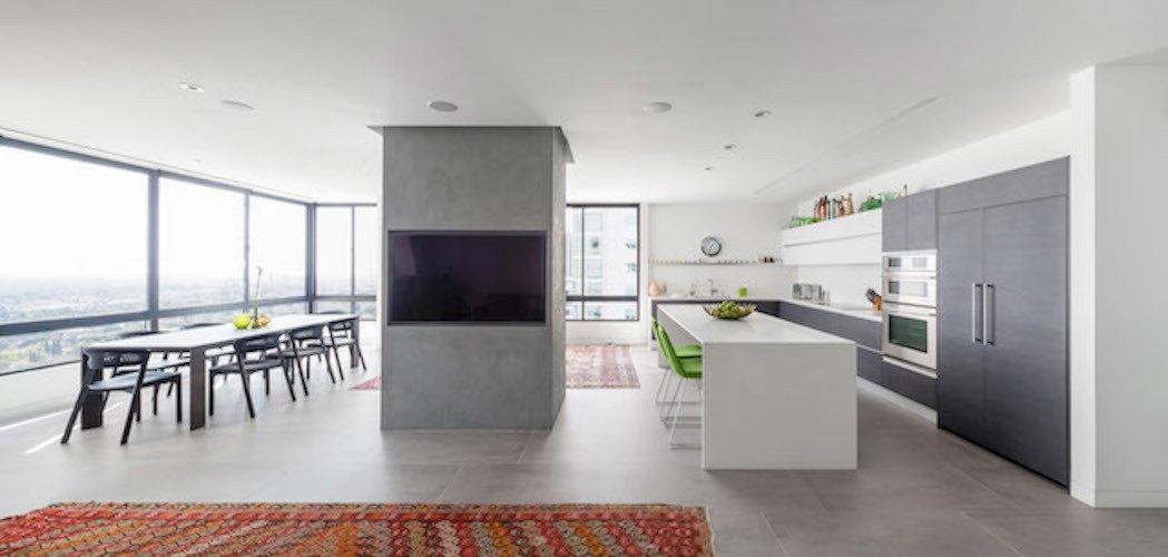 #danbrunn #thediplomat #apartment #wilshirecorridor #california #glass #windows #diningroom #livingroom #fireplace #interior  The Diplomat Apartment by DBArchitecture