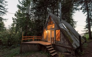 "11 Alluring A-Frame Homes You Can Rent Right Now - Photo 2 of 11 -  Surrounded by redwoods on a private road in Cazadero, this cabin is just north of San Francisco, close to the beautiful Sonoma Coast, and near wine country. <span style=""color: rgb(204, 204, 204); font-size: 13px;"">Photo by Airbnb</span>"