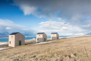 11 Alluring A-Frame Homes You Can Rent Right Now - Photo 3 of 11 - Three modern houses at Sunnuhlíð are ideal for couples and families, and boast astounding views in a rural setting.