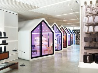This Audio Store Wants You to Feel at Home - Photo 1 of 6 - Sonos teamed with creative agency Partners & Spade to design the store, which is framed around seven, tiny home–shaped listening stations.