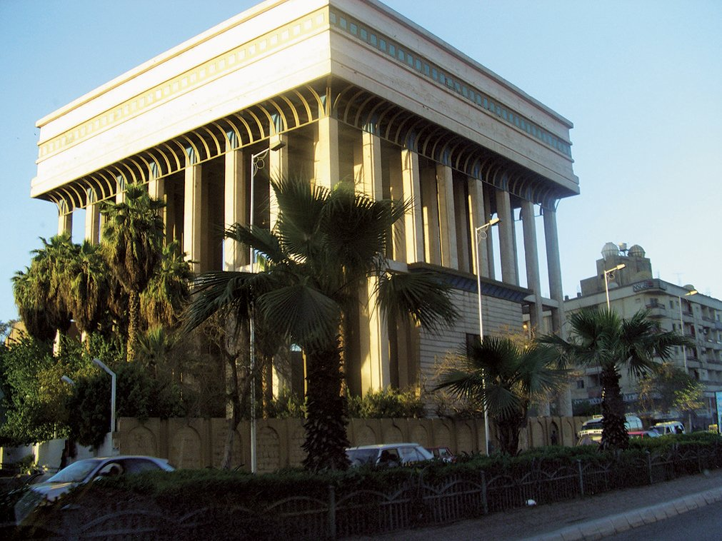"""Adjaye on this civic structure in Cairo, Egypt:  """"The old city, with its ramparts, narrow lanes and Moorish architecture, has a particularly intimate character. Recent public buildings are postmodern in style, with Arabic motifs. Many public buildings from the colonial period have been converted to cultural uses, such as the Museum of Egyptian Antiquities."""""""