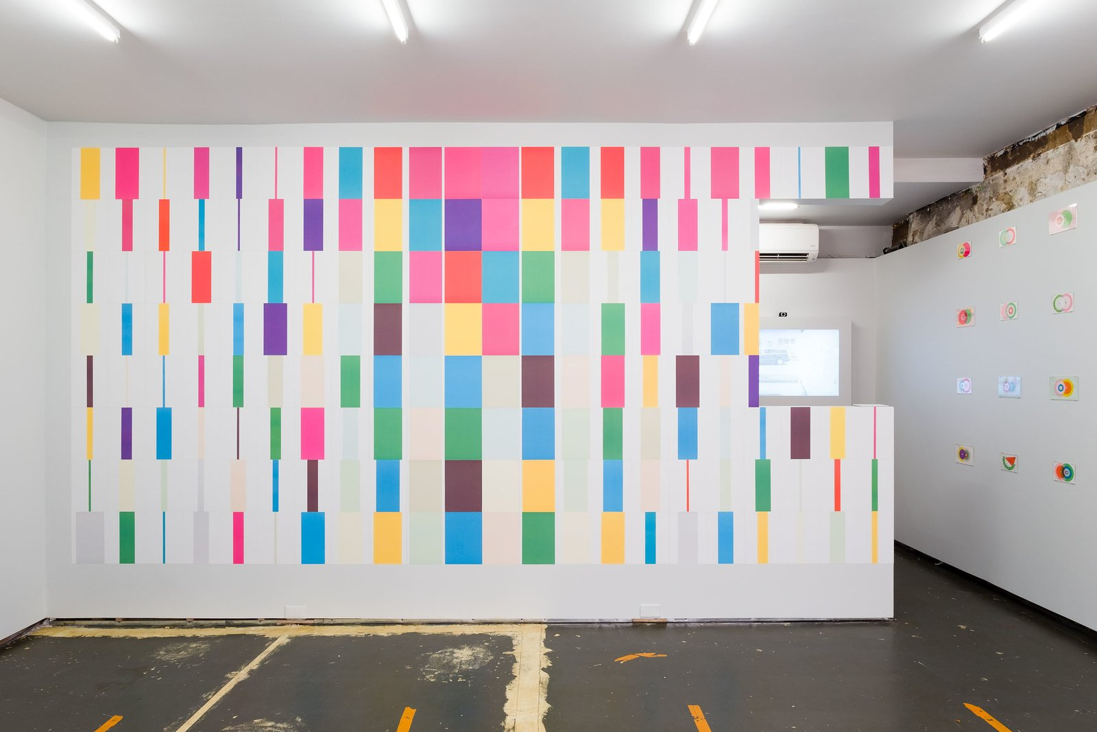 Karel Martens, A4 Wallpaper, 2013/2016. System of offset printed sheets using six colors overprinted to produce 20 colors in nine forms each. 180 sheets of paper, offset printed (each 11.75x8.25 inches).  Photo 5 of 5 in Dutch Graphic Design Master Karel Martens Opens His First Solo U.S. Exhibition