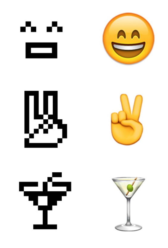 "New York's Museum of Modern Art has just announced the acquisition of NTT DOCOMO's original set of 176 emoji, first designed for cell phones in 1999, to its permanent collection, citing: ""These 12 x 12 pixel humble masterpieces of design planted the seeds for the explosive growth of a new visual language."" The now-ubiquitous glyph set joins other digital designs, such as the '@' symbol and a series of video games, which were acquired by the Architecture and Design department in 2010 and 2012, respectively.  Graphic Design and Illustration by Aileen Kwun from From the Editors' Inbox: October 2016"