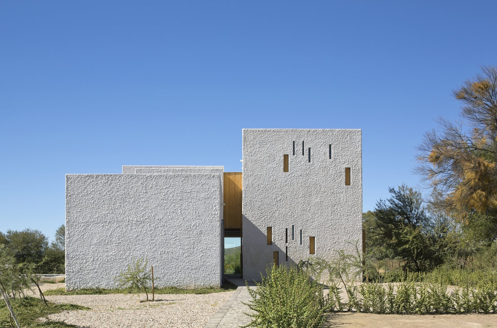 Tagged: Exterior, Stucco Siding Material, and House.  Photo 1 of 7 in A Minimalist Retreat at the Edge of South Africa's Karoo Desert