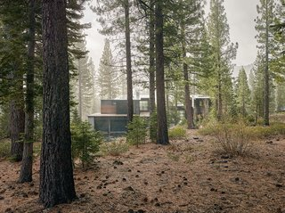 A Family's California Ski Retreat is Designed to Blend in With Its Site - Photo 1 of 5 - The charred cedar–clad structure in Truckee, California, was designed by architect Greg Faulkner, for a family with grown children that wanted a place to host friends.