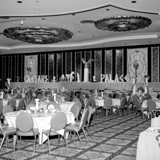 The Architecture of Excess: Caesars Palace at 50 - Photo 4 of 7 - A view of the opening-night banquet, August 5, 1966.