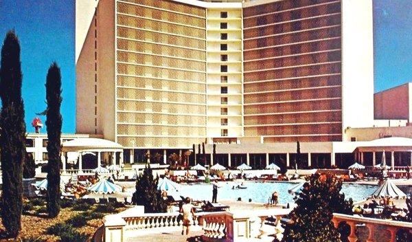 The pool at Caesars, circa 1970.