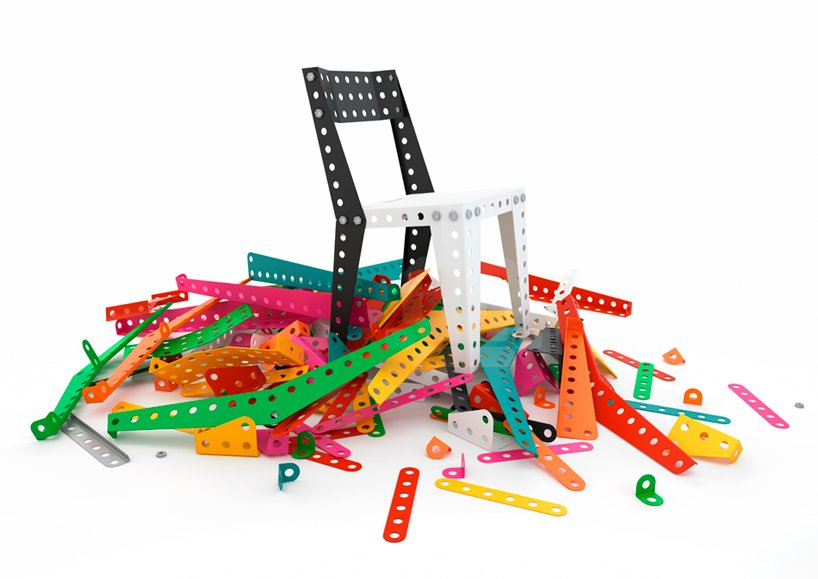 Meccano Home, a furniture collection created by France's answer to the Erector set  Shape-Shifters: Modular Furniture by Heather Corcoran