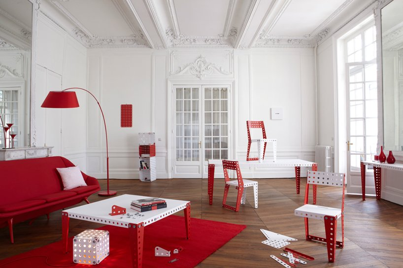Meccano Home, a furniture collection created by France's answer to the Erector set