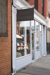 "This Brooklyn Boutique Is an Oasis of Calm in the Busy City - Photo 2 of 6 - The shop is located on a busy commercial stretch of Grand Street in Williamsburg. ""The location required a quiet oasis,"" architect Elizabeth Roberts <span style=""line-height: 1.8;"">says</span><span style=""line-height: 1.8;"">.  </span>"