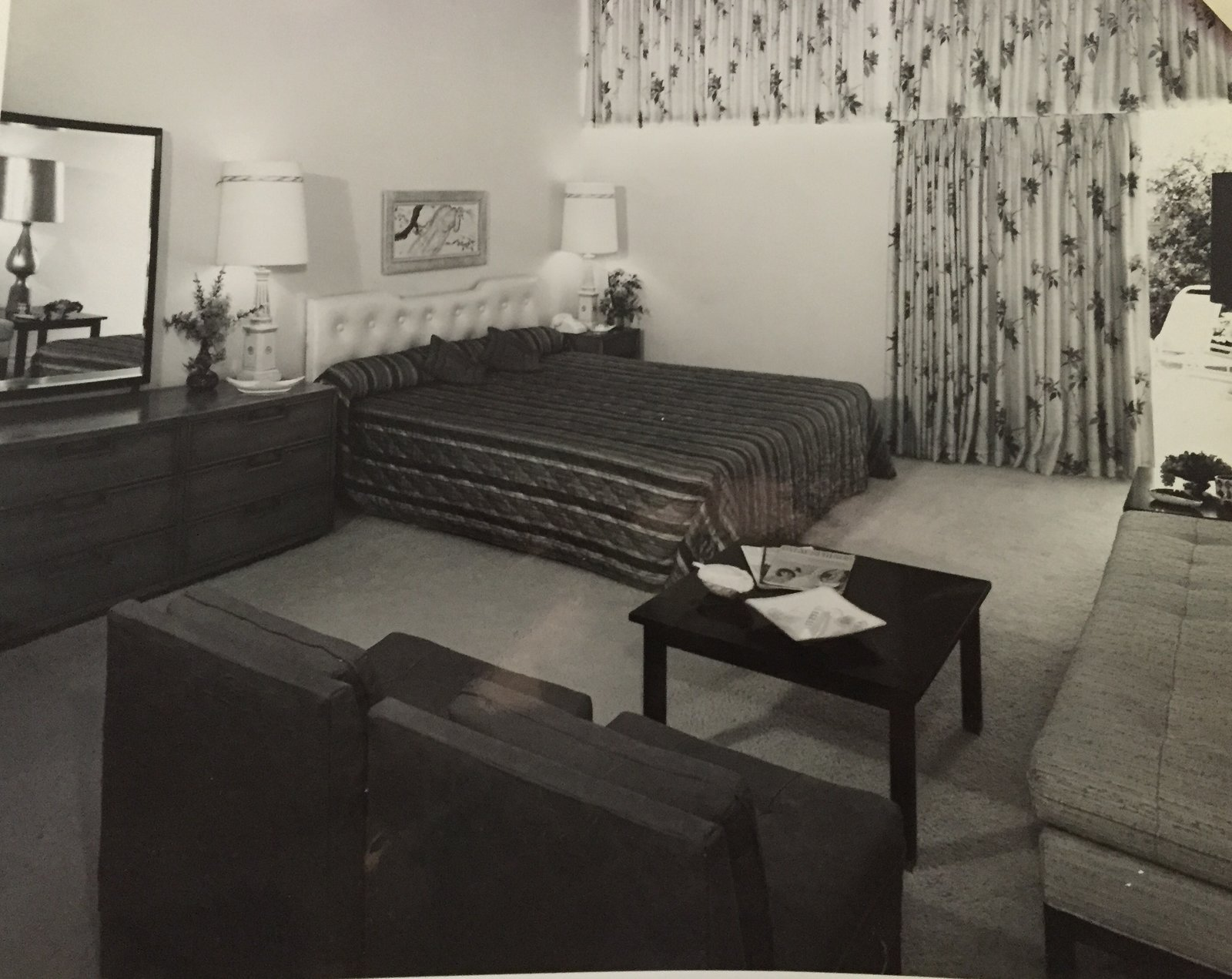 The original Jungle bedroom that inspired it.  Photo 5 of 6 in This Palm Springs Hotel is Filled with Vintage Midcentury Modern Finds