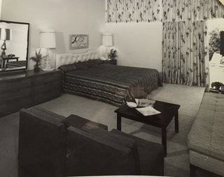 This Palm Springs Hotel is Filled with Vintage Midcentury Modern Finds - Photo 4 of 5 - The original Jungle bedroom that inspired it.
