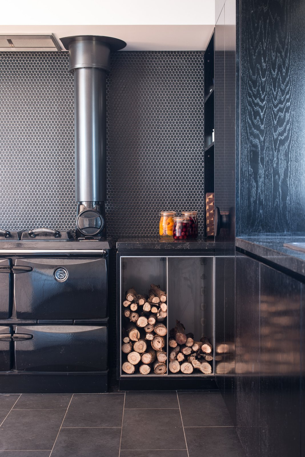 The kitchen features a <span style=