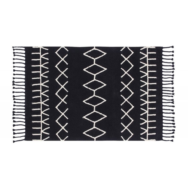 "Lorena Canals's rugs are soft underfoot—and machine washable. I love the graphic lines of the brand's new black-and-white collection.  lorenacanals.us Search ""blackandwhite"""