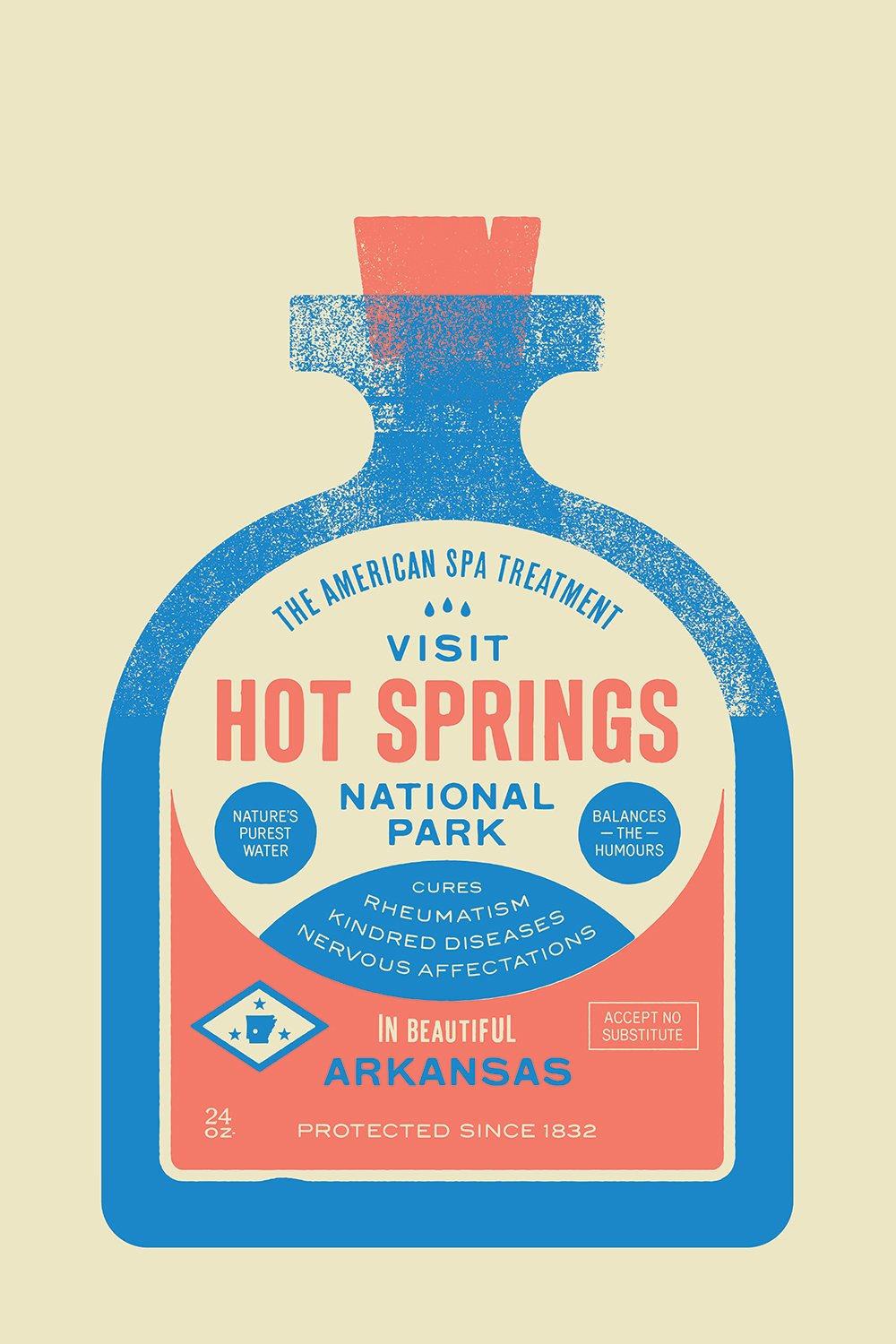 Hot Springs National Park designed by Bryan Butler  With Type Hike, 59 Graphic Designers Celebrate the National Park Service Centennial by Heather Corcoran