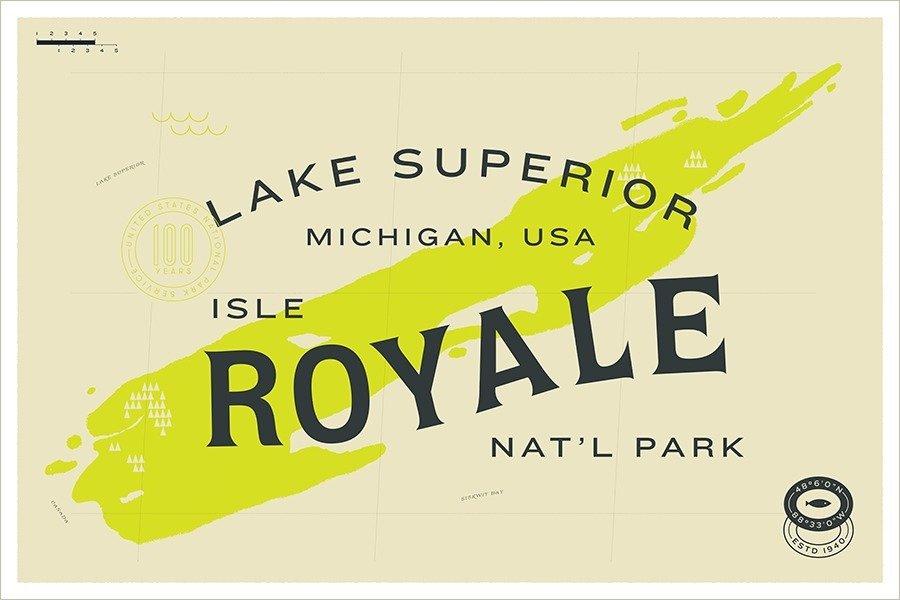 Isle Royale National Park designed by Fuzzco