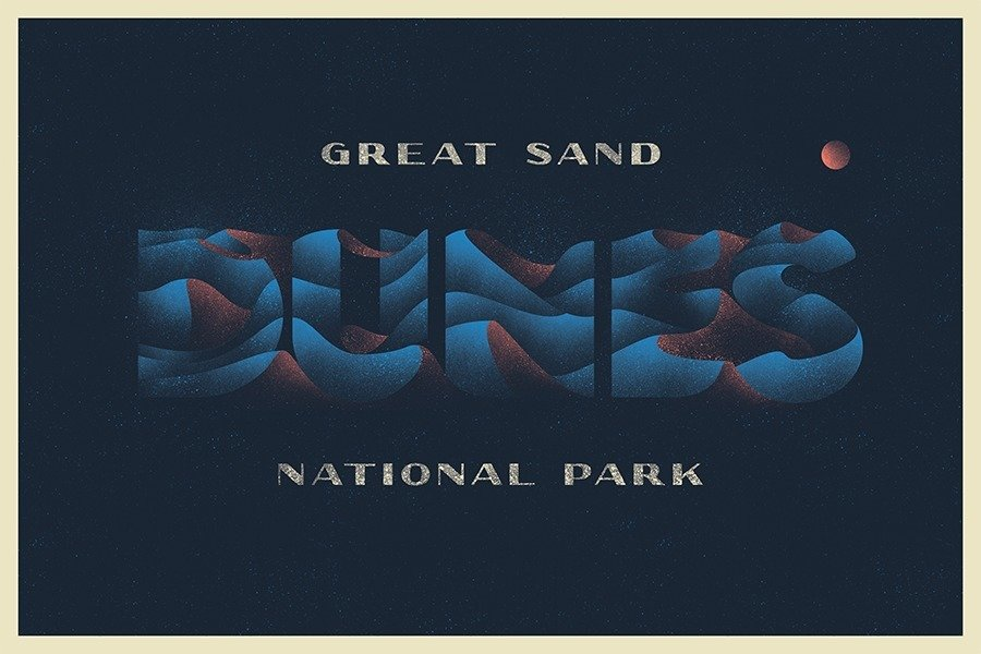 Great Sand Dunes National Park designed by David Rygiol