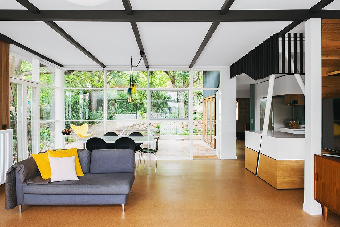 The team kept as much of the original glazing as possible, adding new windows in a similar visual style.  Midcentury Homes by Dwell from An Australian Renovation Gives New Life to Midcentury Style
