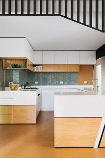 An Australian Renovation Gives New Life to Midcentury Style - Photo 14 of 14 - The backsplash tiles were imported from American manufacturer Heath Ceramics, in the Chalk-Gunmetal finish from the Classic Field line.