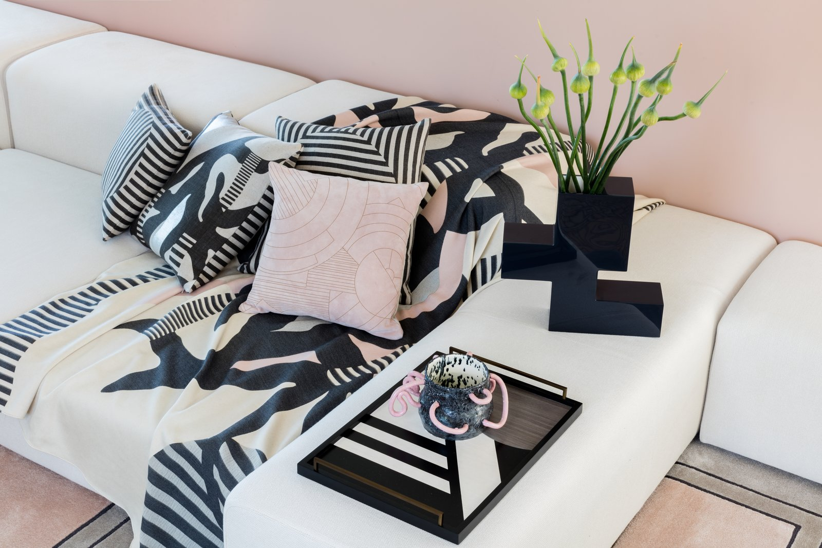 Just in time for NY Fashion Week, designer Kelly Behun has launched a pop-up at Barneys—and a capsule collection for barney.com to go with it. Called A Kook Milieu, the shop-in-shop nods to the geometric Pattern and Decoration art movement of the 1970s and '80s. Along with her own deigns, Behun welcomes collaborators Manal Kara (whose ceramic vase is seen here) and Beth Goobic. See it through October 31, 2016 at Barneys New York's Madison Avenue Flagship. TheWindow.Barneys.com  Photo by Lauren Coleman From the Editors' Inbox: September 2016 by Aileen Kwun