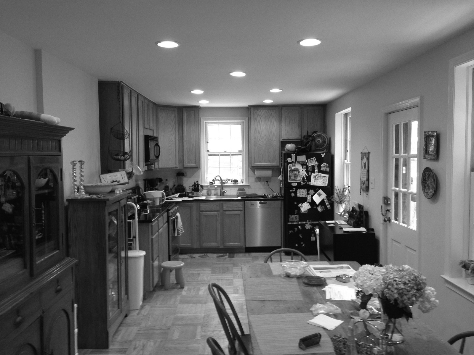 The original kitchen was cramped and cluttered.