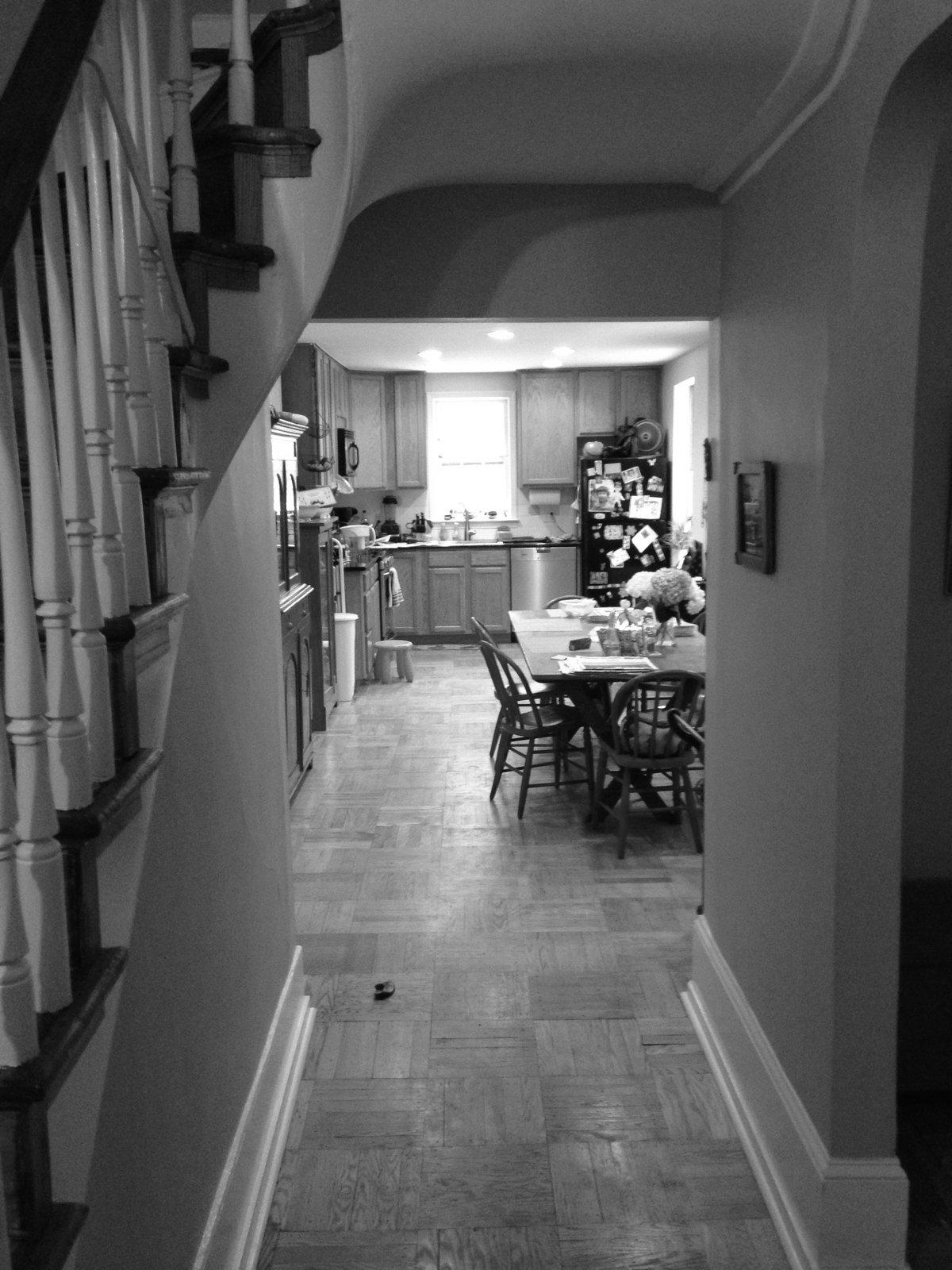Philadelphia Row House Renovation - Photo 6 of 8 - Reorganizing the original kitchen and dining area was one of the main goals of the renovation.