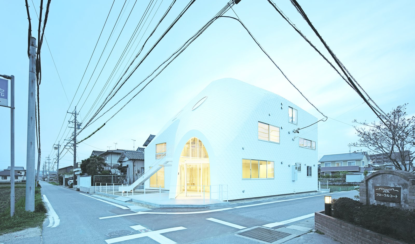 A kindergarten Okazaki, Japan, Clover House is named for its previous life. Originally a 1,100-square-foot residence in a traditional Japanese style, the structure was transformed by MAD Architects in a sculptural example of adaptive reuse wrapped in asphalt shingles. The windows were oriented to bring sunlight and shadow into the space in dynamic ways.  Picture by Koji Fuji