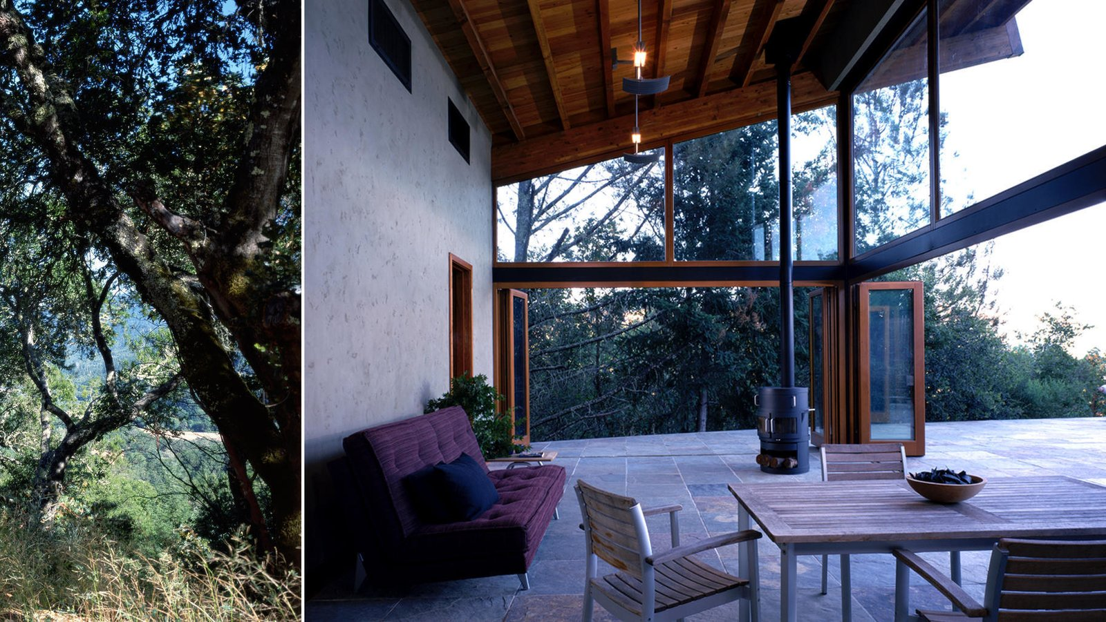 #poolhouse #calistoga #exterior #smallspaces #cantileveredroof #cantilevered #roof  Barnes Pool House by Lundberg Design